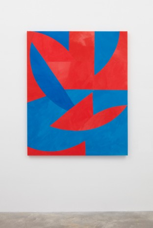 Sarah Crowner, Rotating Blue and Red Circles, 2017 , Casey Kaplan