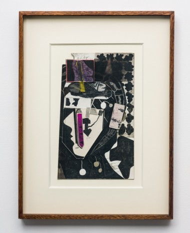Ray Johnson, Andy Chartreuse Fabric (Dear Jacques Derrida), 1960 – 1979 – 10 août 1991, , Galerie Chantal Crousel