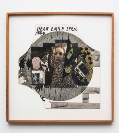Ray Johnson, Sans titre (Dear Emile Bern ard) (and Greta Garbo) 1975 – 1990 –1991 – 1 et 2 août 1993 –15 avril 1994, , Galerie Chantal Crousel