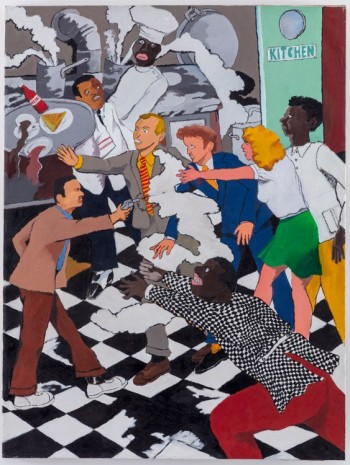 Robert Colescott , Kitchen Assassination, 1971 , Blum & Poe