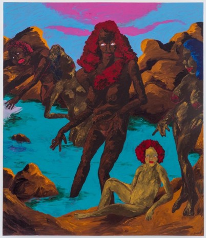 Robert Colescott , At the Bathers' Pool: Ancient Goddesses and the Contest for Classic Purity, 1985 , Blum & Poe