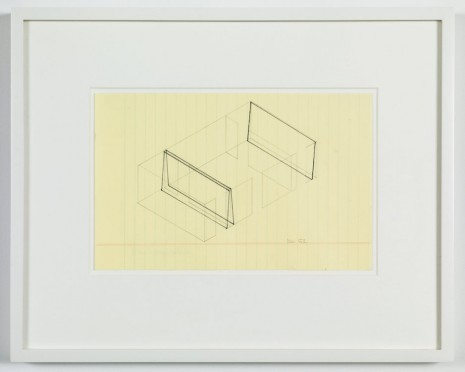 Fred Sandback, Untitled (no. 52 from 133 proposals for the Heiner Friedrich Gallery), 1969, Cardi Gallery