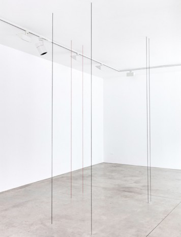 Fred Sandback, Untitled (Sculptural Study, Seven-part Vertical Construction), 1991-2018 , Cardi Gallery