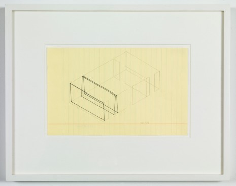 Fred Sandback, Untitled (no. 28 from 133 proposals for the Heiner Friedrich Gallery), 1969 , Cardi Gallery