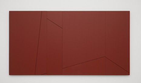 Fred Sandback, Untitled (Sculptural Study, Terra-cotta Wall Relief), 2003-2006, Cardi Gallery