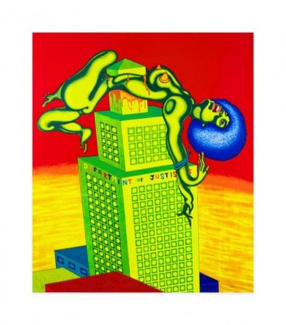 Peter Saul, Angela Davis, 1972 , Venus Over Manhattan