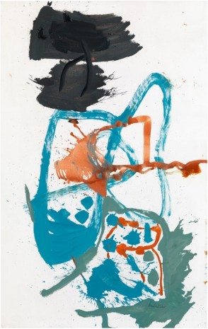 Helen Frankenthaler, Winter Figure with Black Overhead, 1959, Victoria Miro Gallery