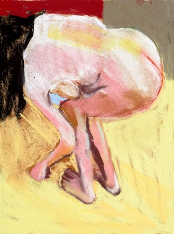 Chantal Joffe, Self-Portrait Bending Over, 2015 , Victoria Miro