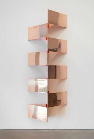 "Walead Beshty, Copper Surrogates (60"" x 120"" 48 ounce C11000 Copper Alloy, 45º/45º/90º: February 23-27, 2018, Los Angeles, California), 2018-, Regen Projects"