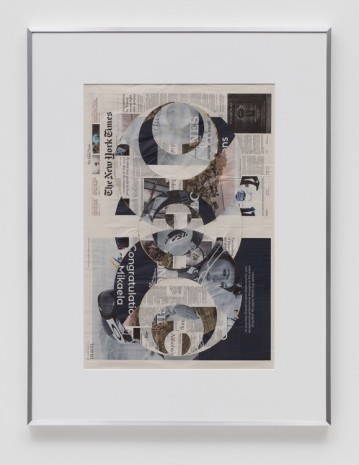 Walead Beshty, Blind Collage (Four 180° Rotations, The New York Times International Edition Distributed with The Japan Times, Tuesday, March 21, 2017, 2017, Regen Projects
