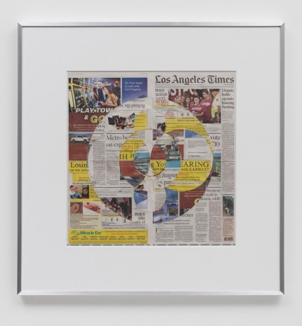 Walead Beshty, Blind Collage (Three 180° Rotations, Los Angeles Times, Thursday, March 1, 2018), 2018 , Regen Projects