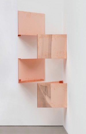 "Walead Beshty, Copper Surrogates (48"" x 120"" 48 ounce C11000 Copper Alloy, 45º/45º/90º: February 23-27, 2018, Los Angeles, California), 2018-, Regen Projects"