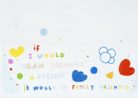 Lily Van der Stokker, Family oriented (Remake of '93 marker drawing), 2008, Air de Paris