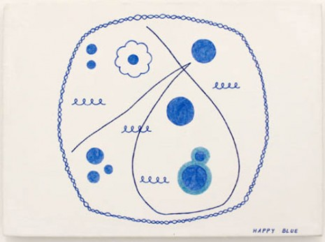 Lily Van der Stokker, Happy Blue, 1990/1991, Air de Paris
