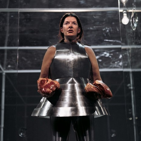 Marina Abramović, Virgin Warrior - Two Hearts (Performance with Jan Fabre), 2006 , Galerie Krinzinger