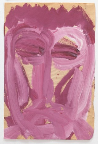 Dan Asher, Untitled, 1984, tempera on paper , Martos Gallery