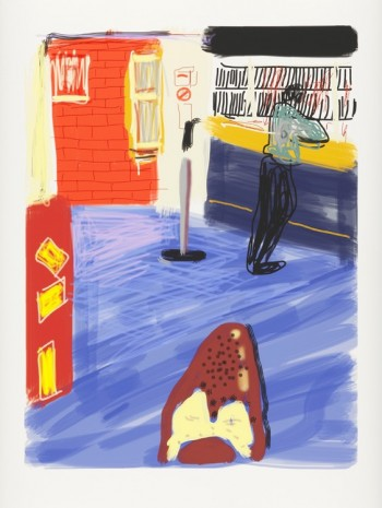 David Hockney, Waiting at York, 2010 , Galerie Lelong & Co.