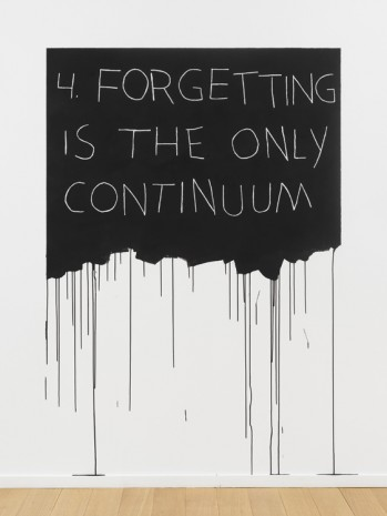 Mel Bochner, Forgetting Is The Only Continuum, 1970 / 2018 , Simon Lee Gallery