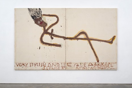 Rose Wylie, Tube Girl, 2016 , David Zwirner