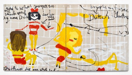 Rose Wylie, Yellow Girls I, 2017 , David Zwirner