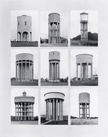 Bernd and Hilla Becher, Water Towers, ca 1966 – 1979, Hauser & Wirth