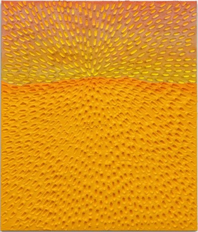 Jennifer Guidi, New Horizon (Painted White Sand SF #3C, Light Yellow and Pink Sky), 2017 , Gagosian