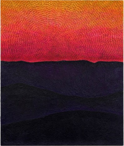 Jennifer Guidi, Force of Instinct (Painted Universe Mandala SF #1G, Sunset Sky, Black-Purple Mountains, Natural Ground), 2017-2018 , Gagosian