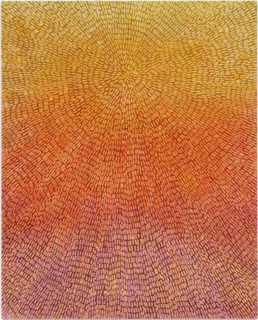 Jennifer Guidi, Abundance (Painted Universe Mandala SF #1F, Yellow to Lavender Sunset Gradient, Natural Ground), 2018 , Gagosian