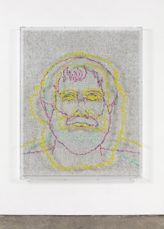 Charles Gaines, Faces 1: Identity Politics, #3, Karl Marx, 2018, Paula Cooper Gallery