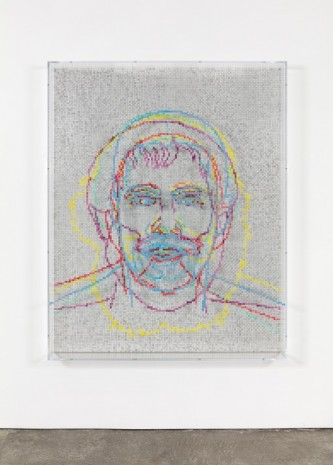 Charles Gaines, Faces 1: Identity Politics, #5, Malcolm X, 2018 , Paula Cooper Gallery