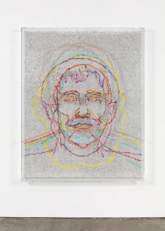 Charles Gaines, Faces 1: Identity Politics, #6, Jacques Lacan, 2018 , Paula Cooper Gallery