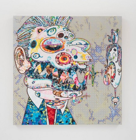 Takashi Murakami, Homage to Francis Bacon (Study for Head of George Dyer (on light ground)), 2018 , Perrotin