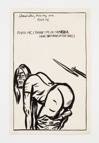 Raymond Pettibon, No title (Amerika, kiss my...), 1988 , Contemporary Fine Arts - CFA