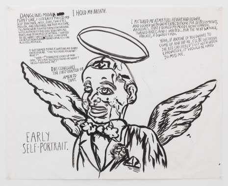 Raymond Pettibon, No Title (Dangling midair puppet-like...), 2012 , Contemporary Fine Arts - CFA