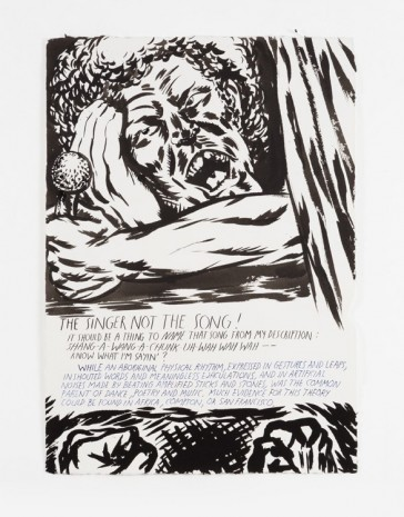 Raymond Pettibon, No Title (The singer not...), 2000 , Contemporary Fine Arts - CFA