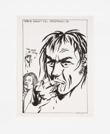 Raymond Pettibon, No Title (Speed doesn't kill.), 1985 , Contemporary Fine Arts - CFA