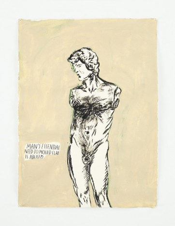 Raymond Pettibon, No Title (Man's essential need...), 2014 , Contemporary Fine Arts - CFA