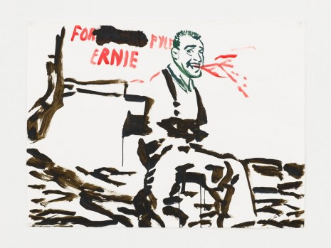 Raymond Pettibon, No Title (For Pyle Ernie...), 2017 , Contemporary Fine Arts - CFA