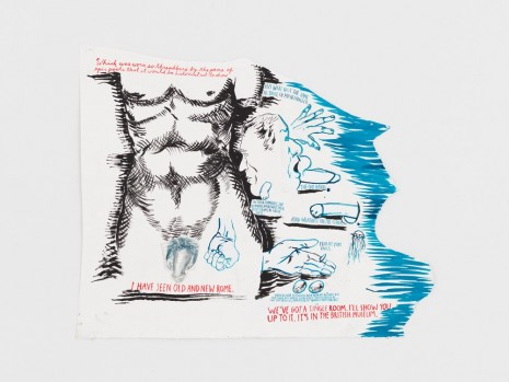 Raymond Pettibon, No Title (Which was worn...), 2017 , Contemporary Fine Arts - CFA