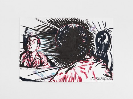 Raymond Pettibon, No Title (Heartily I echoed...), 2017 , Contemporary Fine Arts - CFA