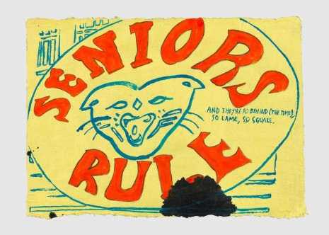Raymond Pettibon, No Title (Seniors Rule), 2017 , Contemporary Fine Arts - CFA