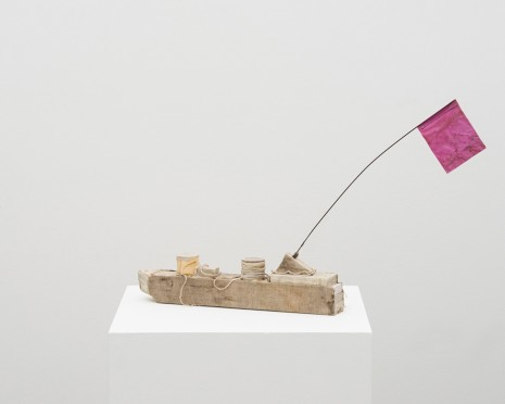Michelle Stuart, Chatham Boat (pink flag), 2017, Alison Jacques Gallery