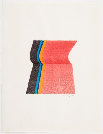 Robert Mallary, 3 Color Plotter Graphic, 1972, The Mayor Gallery