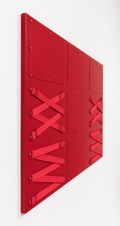 Joshua Saunders, Nine Panel Red, 2017, Steve Turner