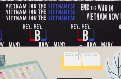 Matthew Brannon, Concerning Vietnam: Oval Office, October 1967, 2018 , Casey Kaplan