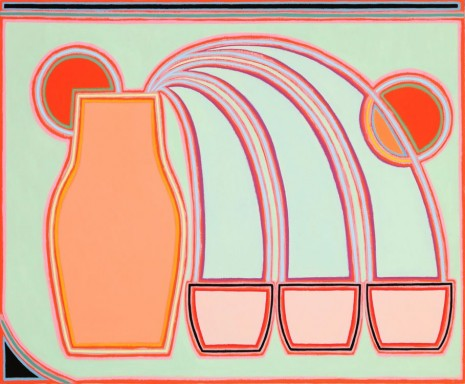 Holly Coulis, Triple Pour, Oranges, 2018 , Simon Lee Gallery