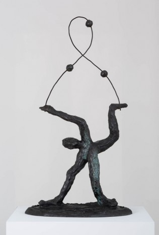Andrew Lord, man standing juggling three balls, 2017 , Gladstone Gallery