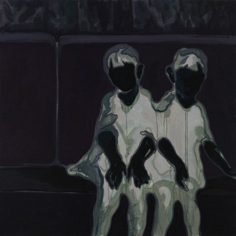 Lin Shan, Twins On The Sofa (Mirror Image), 2018 , ShanghART