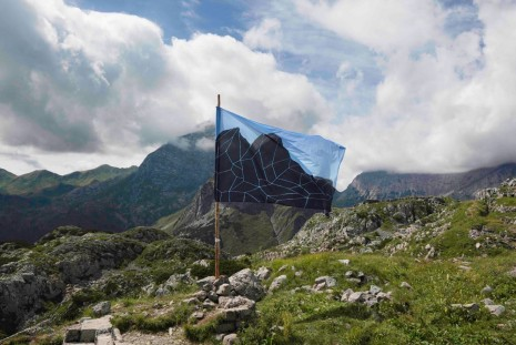 Andreco, Mountain Flag - between Nations, 2016, Lia Rumma Gallery