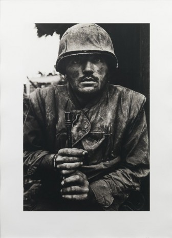 Don McCullin, Shell shocked US Marine, 1968 Printed in 2018 , Hauser & Wirth